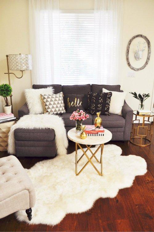 Medium Of Small Living Room Space