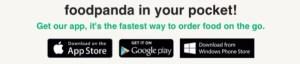 Unduh aplikasi foodpanda di smartphone