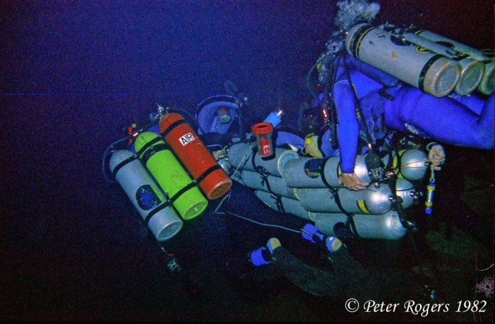 Sled underwater