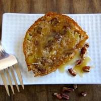 Apple-Pecan Pound Cake with Caramel Glaze