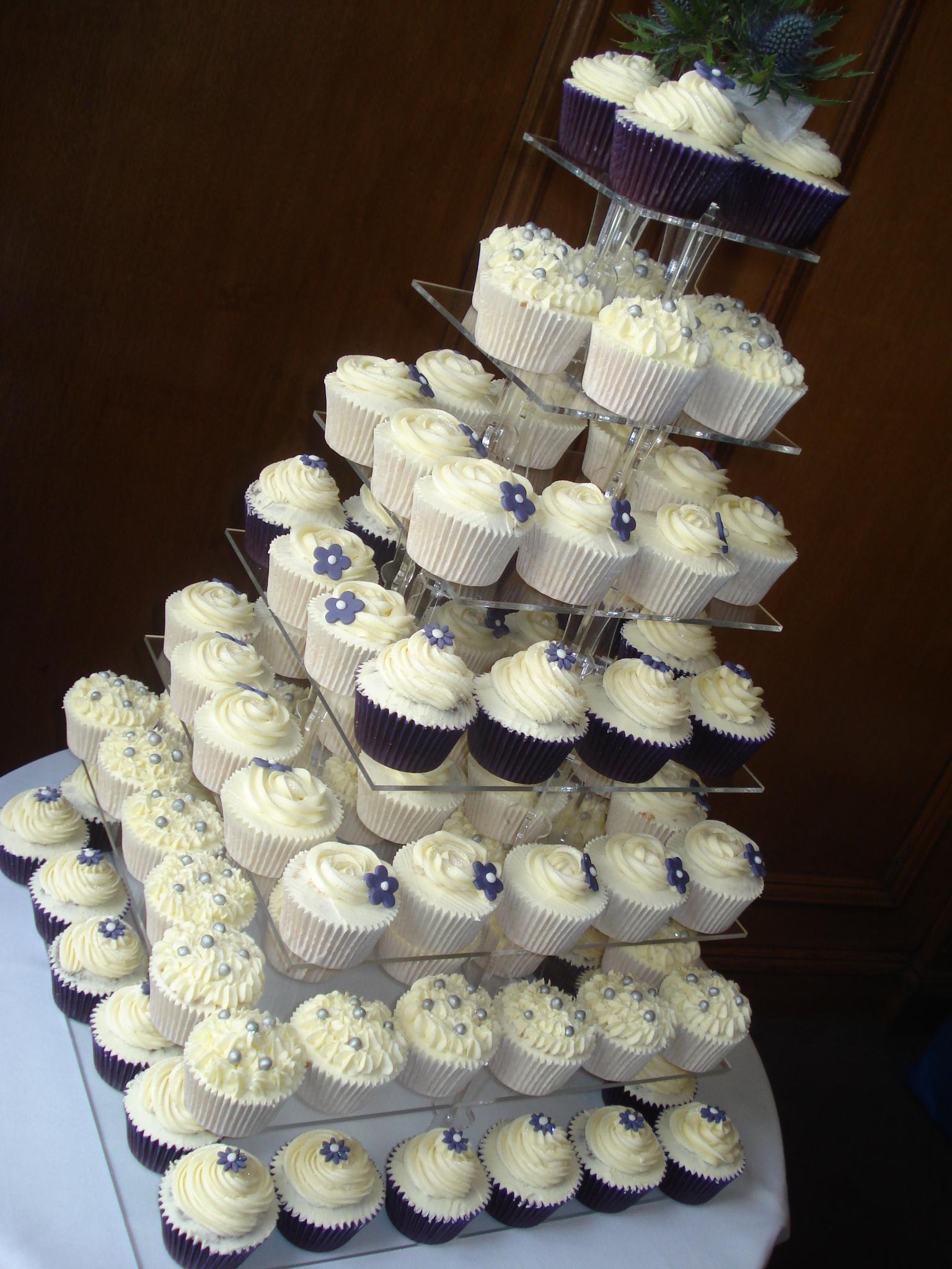 wedding orders purple and silver wedding Purple and silver wedding cupcakes