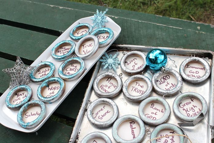 advent decoration trays