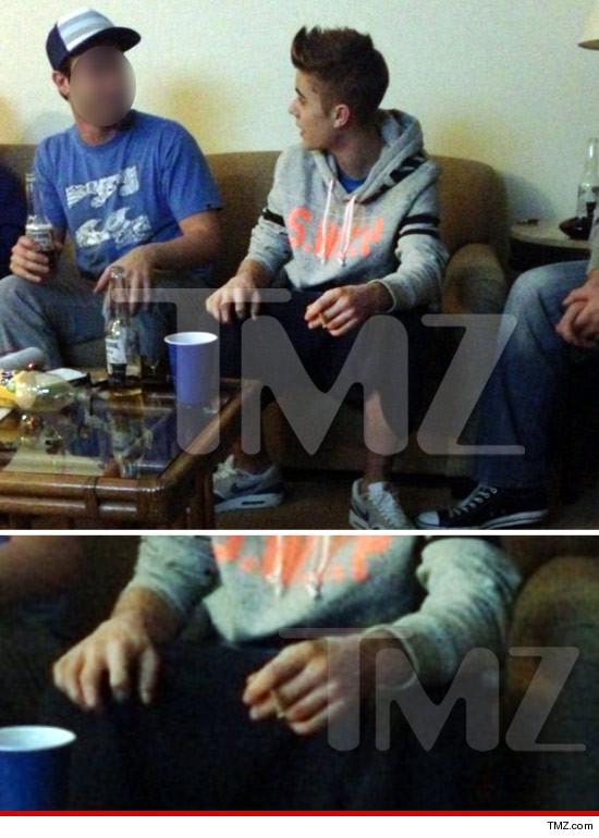 Justin Bieber smoking a blunt