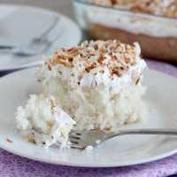 Coconut Cream Poke Cake (Guest Post by Amber from Dessert Now, Dinner Later)
