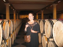 Paige La Mission Haut Brion with key in cellar room photo copyright 2017 IMG_2554