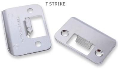 door and lock terminology, t strike