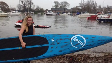 Hannah Ramsay Gets into SUP and Frostbite Racing