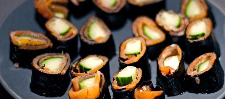 Bouchées à la truite saumonée façon sushi