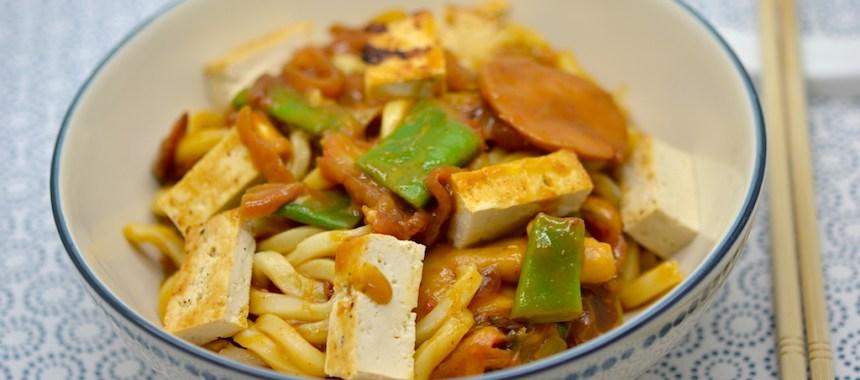 Udon au curry japonais et tofu