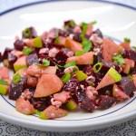 Salade de betterave, pommes et feta