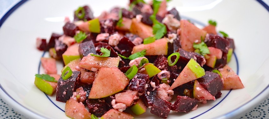 Salade de betteraves, pommes et feta