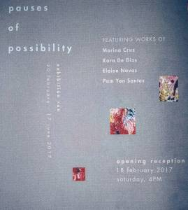 Pauses of Possibility at Lopez Museum with work by Marinahellip