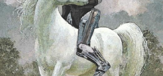 Robocop on a unicorn