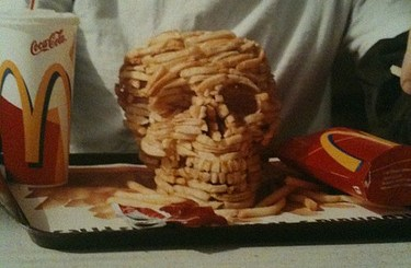 McDonalds French Fry Skull