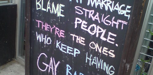 Don't like gay marriage? Blame the straight people.