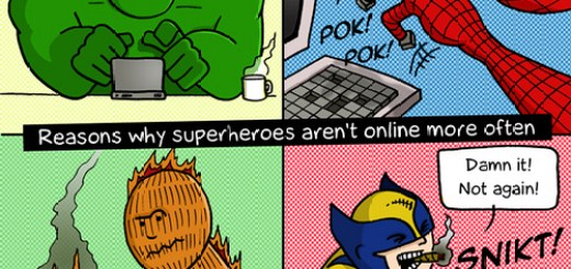 Why Superheros aren't on the internet more.