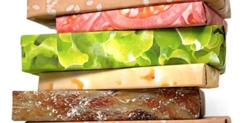 Wrap your presents like a hamburger.