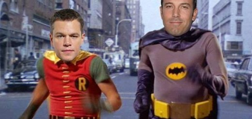 Matt Damon Robin and Ben Affleck Batman