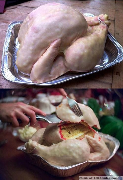 Thanksgiving Turkey Cake