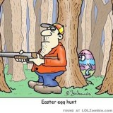 hunting easter eggs