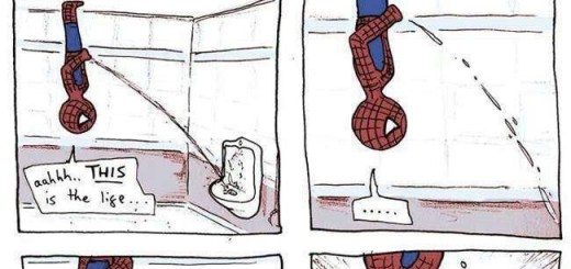 Spiderman Peeing