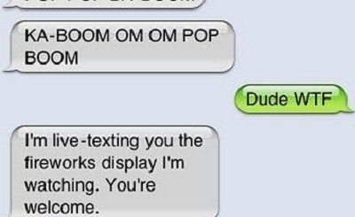 Texting Fireworks Sounds