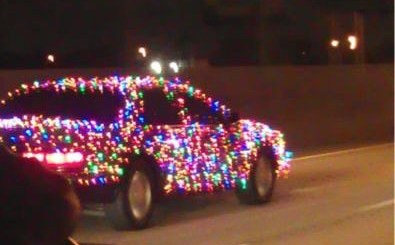 Christmas Lights Car