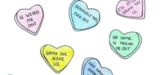 Mean Valentines Hearts