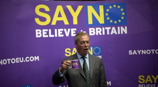 UKIP MP Nigel Farage