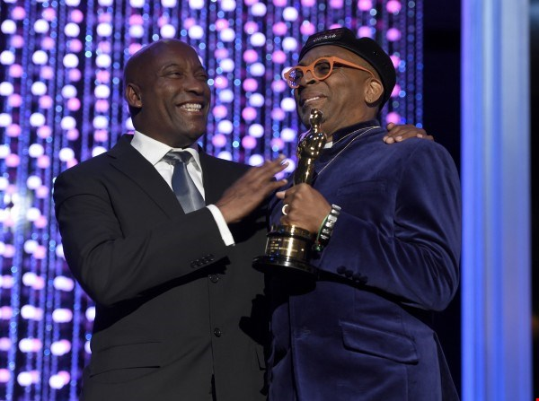 John Singleton and Spike Lee at the Governors Awards