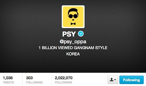Psy_oppa Twitter account
