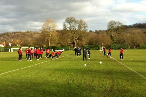 The players are put through their paces