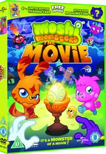 Moshi Monsters Movie DVD London Mums magazine - Approved Pack Shot