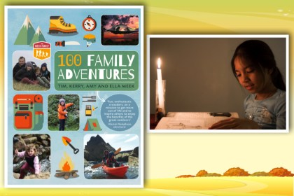 100 family adventures no electricity girl reading at candlelight