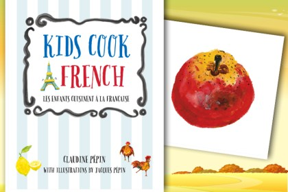 kids cook french book apple recipe collage