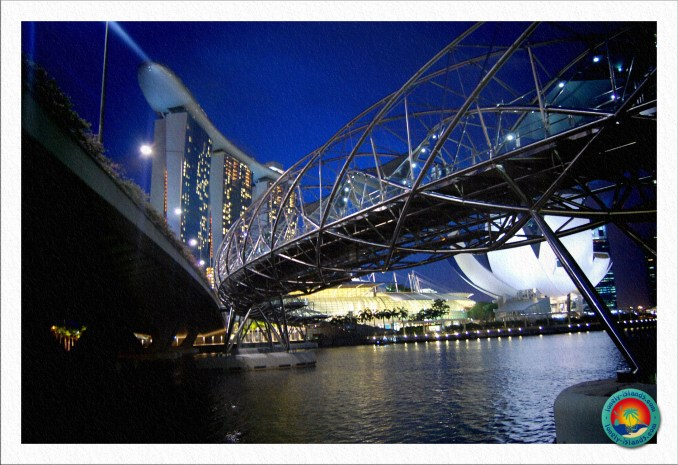 Helixbridge vor dem Marina Bay Sands