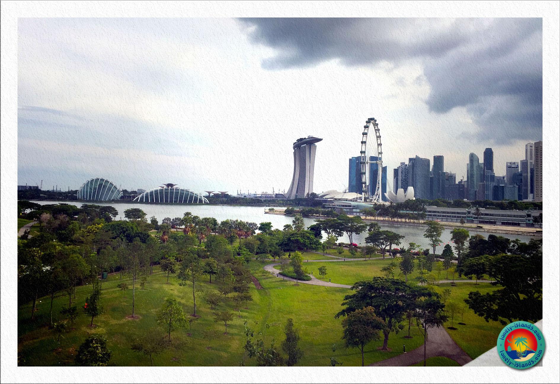 Blick auf Singapur aus dem Park