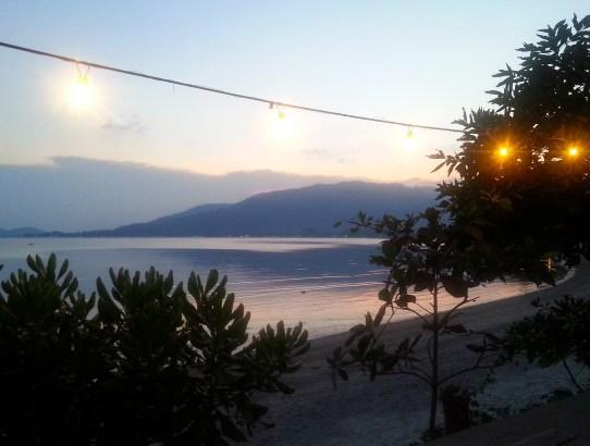 Sonnenuntergang am Lamai Beach