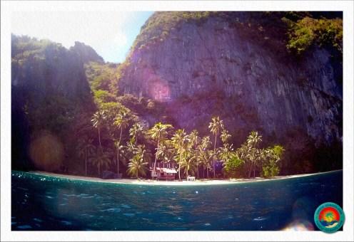 Ankunft auf Pinagbuyutan Island