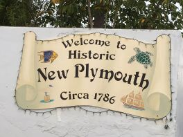 New Plymouth sign