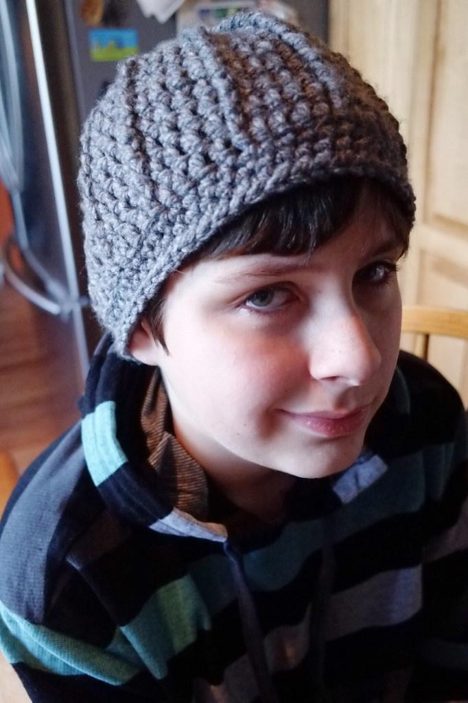 crohchet winter hat for teen boys