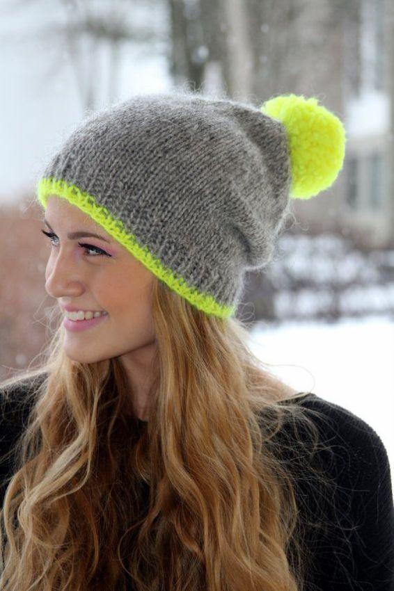вязаные шапки молодежные