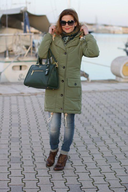 зеленая парка пальто фото