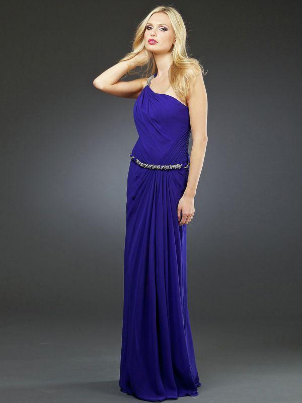 вечернее платье футляр на одно плечо
