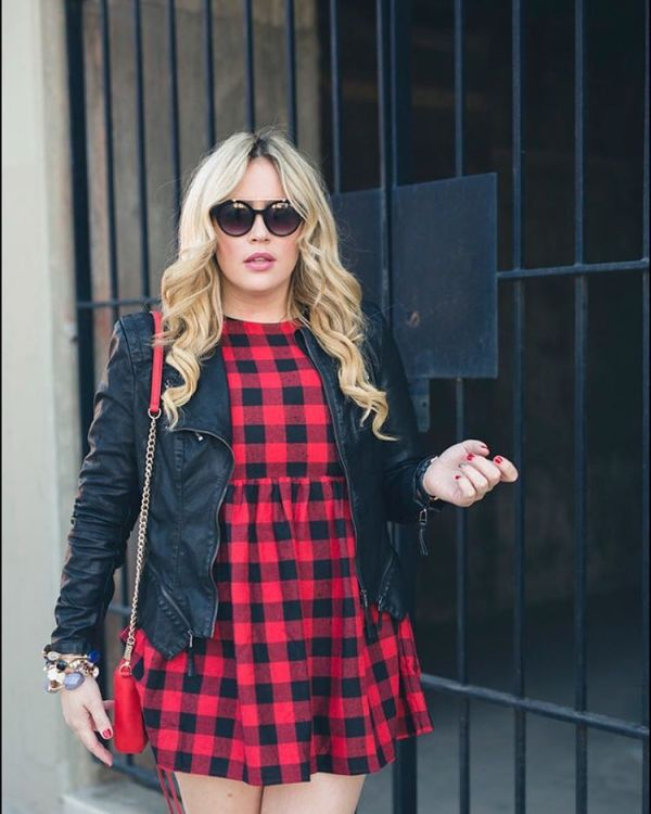 This holiday inspired buffalo check dress is under 15 todayhellip