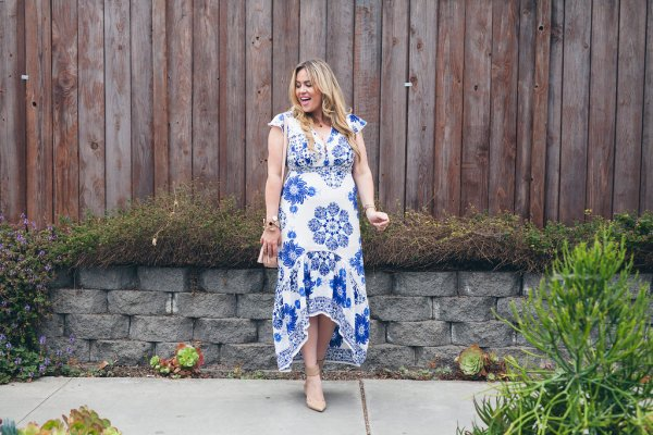 goldies, styled by five, ootd, goldies dress, hi lo dress, floral dress, printed dress, fashion, fashion blogger, style, style blogger