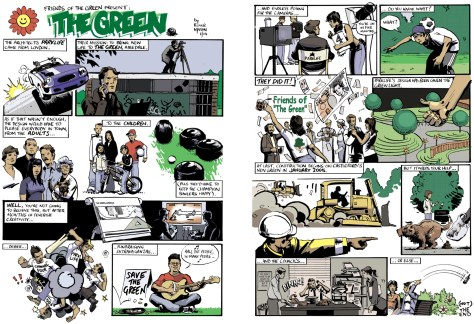 the-green-1 and 2_roger mason_parklife architects_comic strips_colour comic