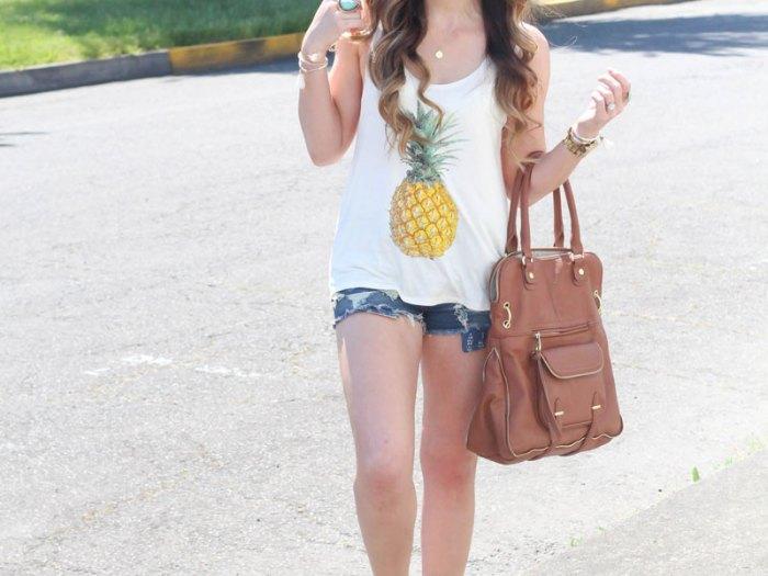 Fashion Junkee Pineapple Tank