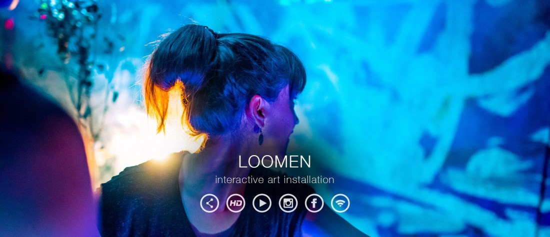 Loomen Interactive Lightwriting Banner