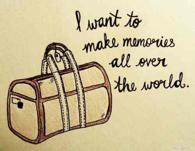I want to make memories all over the world   loomisluggage